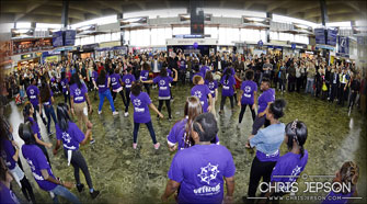 Citizens UK CitySafe Flash Mob at Euston Station
